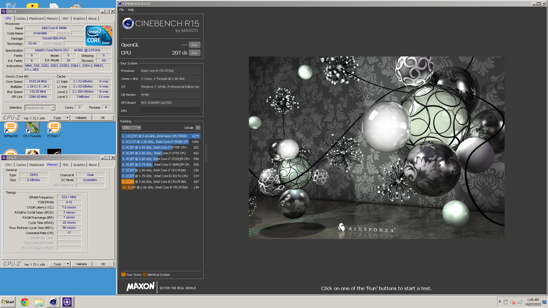 Whatsmenames cinebench r15 score 207 cb with a core i5 560m publicscrutiny Image collections