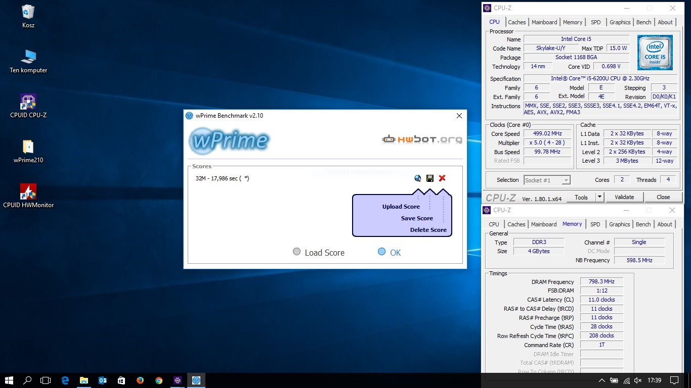 SonSiaT`s wPrime - 32m score: 17sec 986ms with a Core i5 6200U