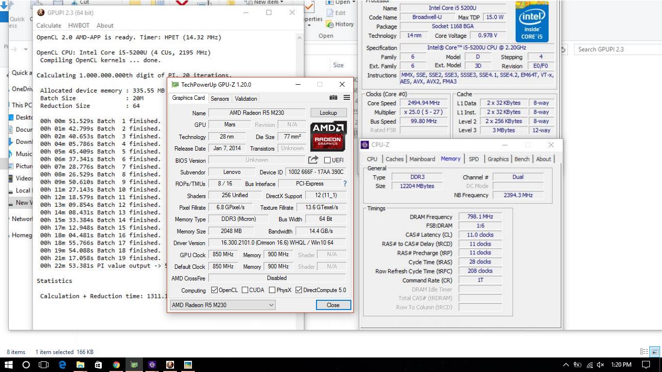Ashish Kumar`s GPUPI for CPU - 1B score: 22min 53sec 381ms