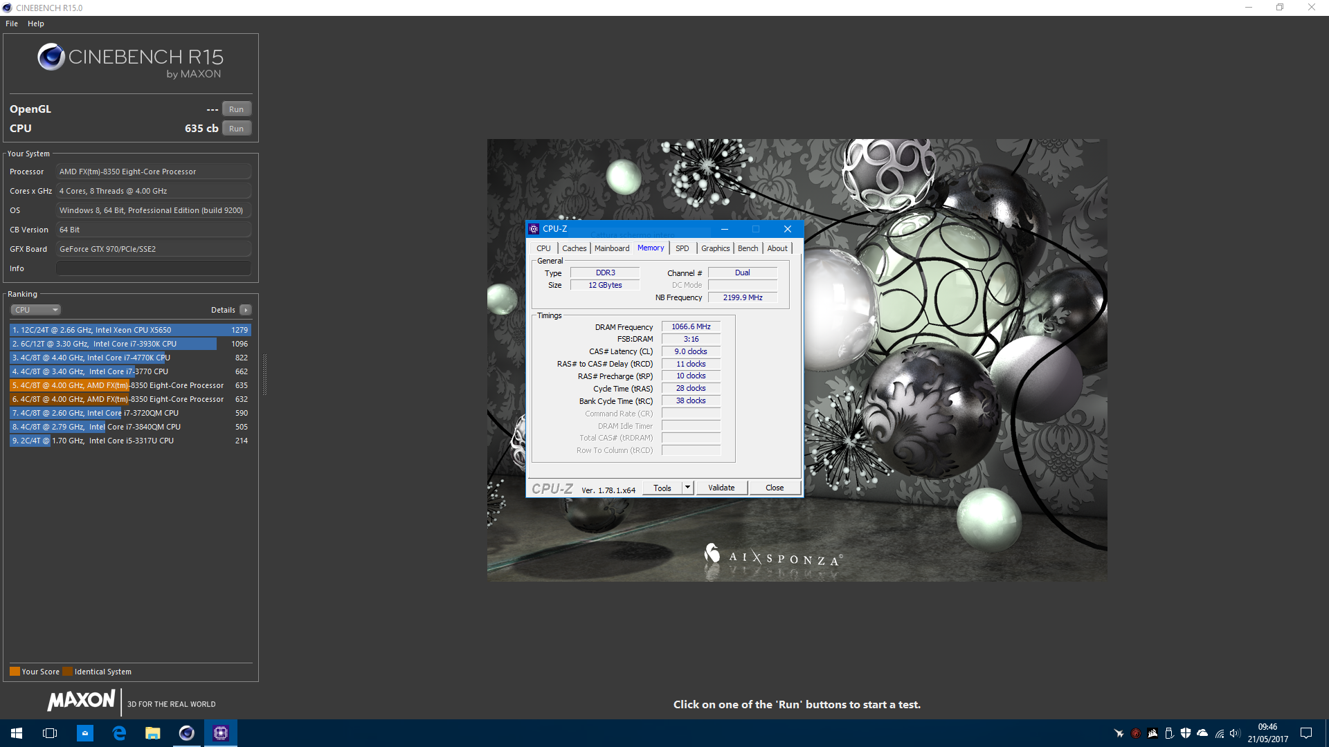 Danny_theBest`s Cinebench - R15 score: 635 cb with a FX-8350