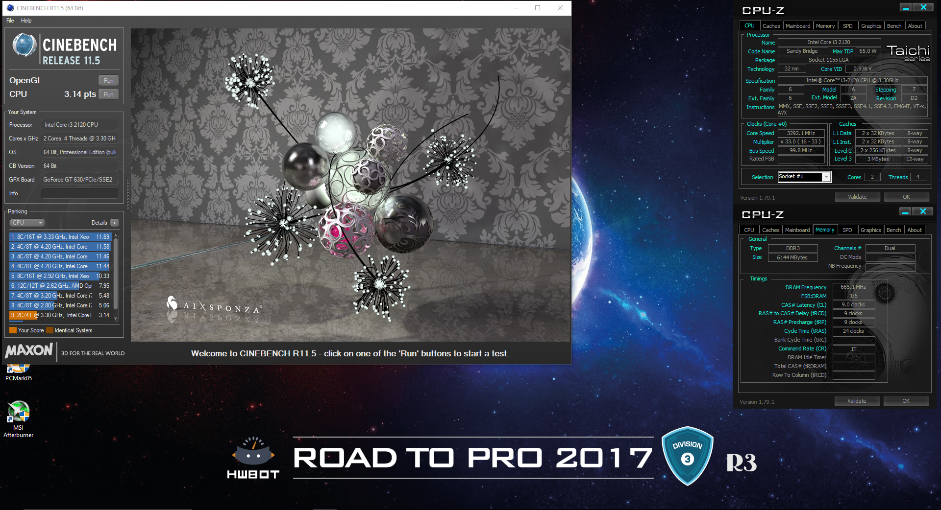 Serpentxsfs Cinebench R115 Score 314 Points With A Core I3 2120