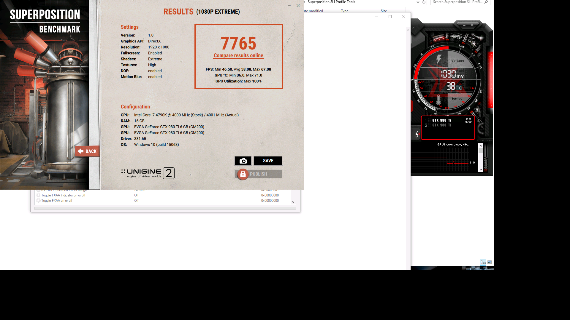 Reaper7799`s Unigine Superposition - 1080P Xtreme score