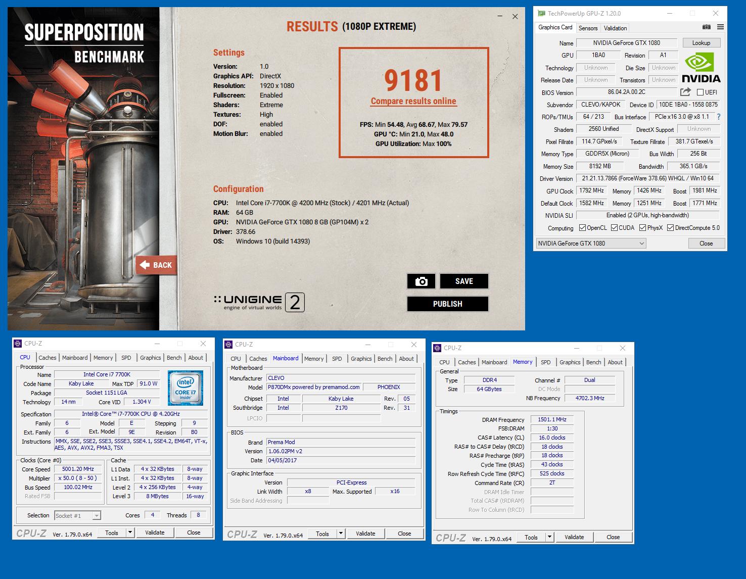 Johnksss`s Unigine Superposition - 1080P Xtreme score: 9181
