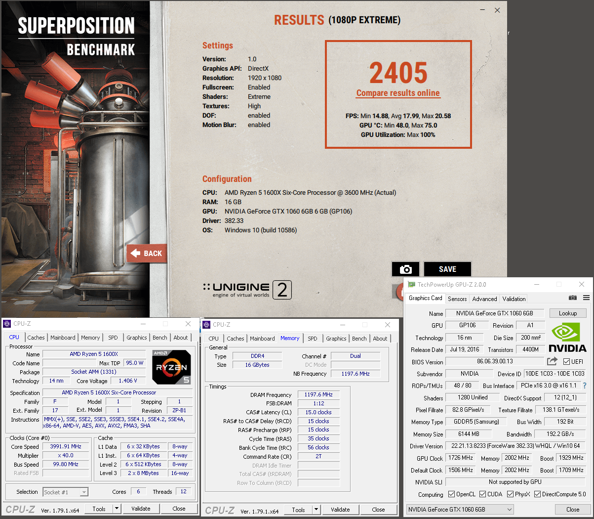 Prudii`s Unigine Superposition - 1080P Xtreme score: 2405 Points