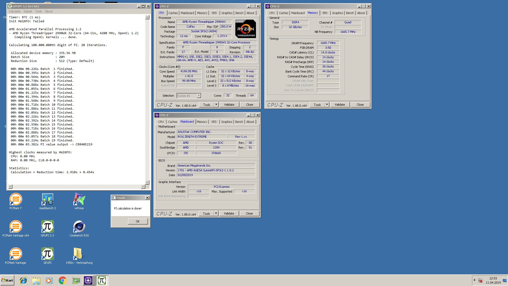 OVIZ Hardware Lab`s GPUPI for CPU - 100M score: 3sec 382ms