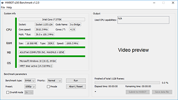 HWBOT x265 Benchmark - 1080p overclocking records @ HWBOT
