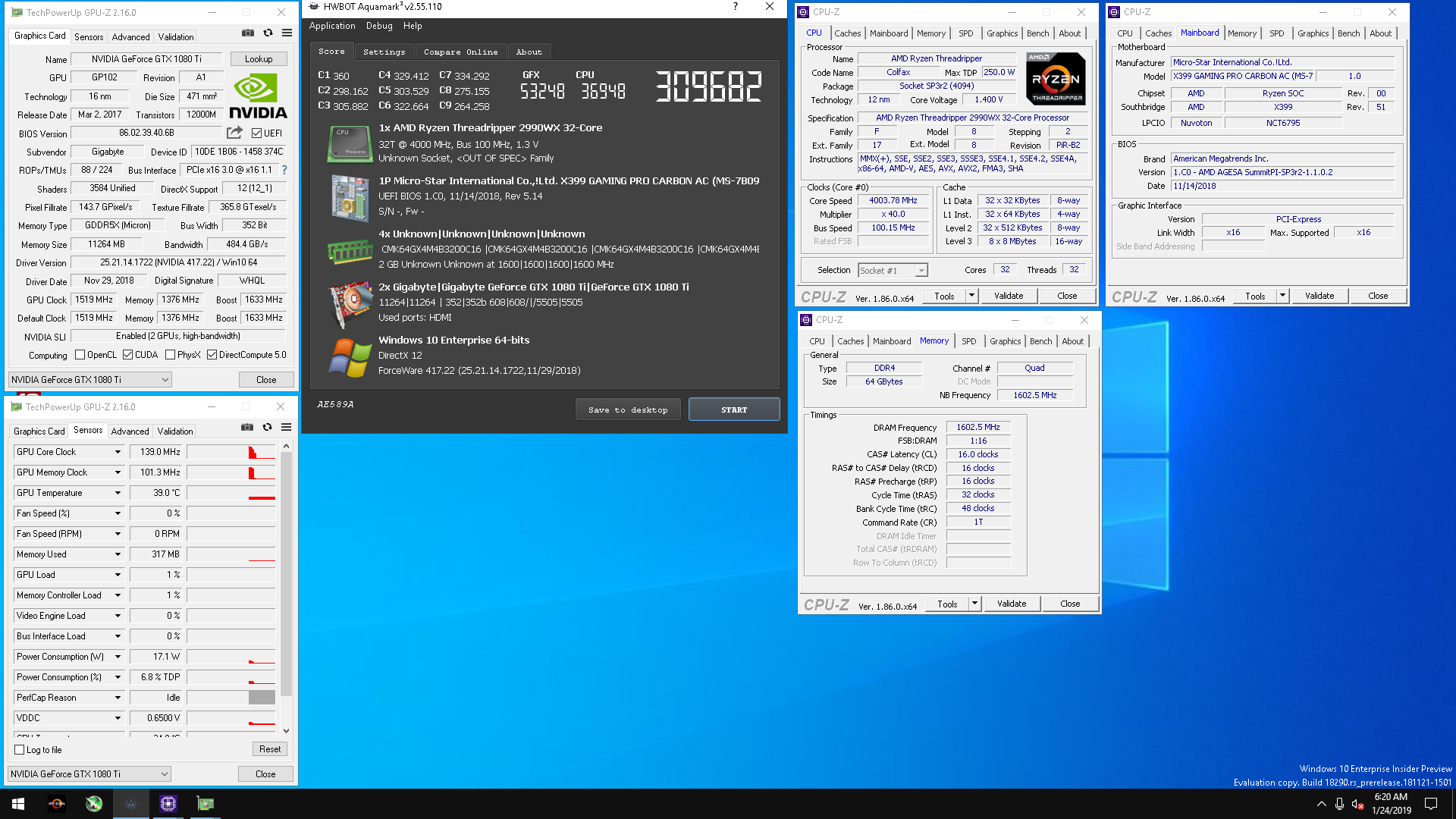 GB-Perth`s Aquamark score: 309682 marks with a GeForce GTX