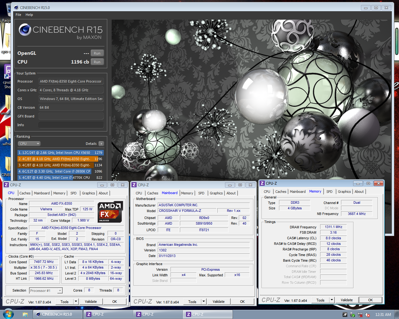 l0ud_sil3nc3`s Cinebench - R15 score: 1196 cb with a FX-8350