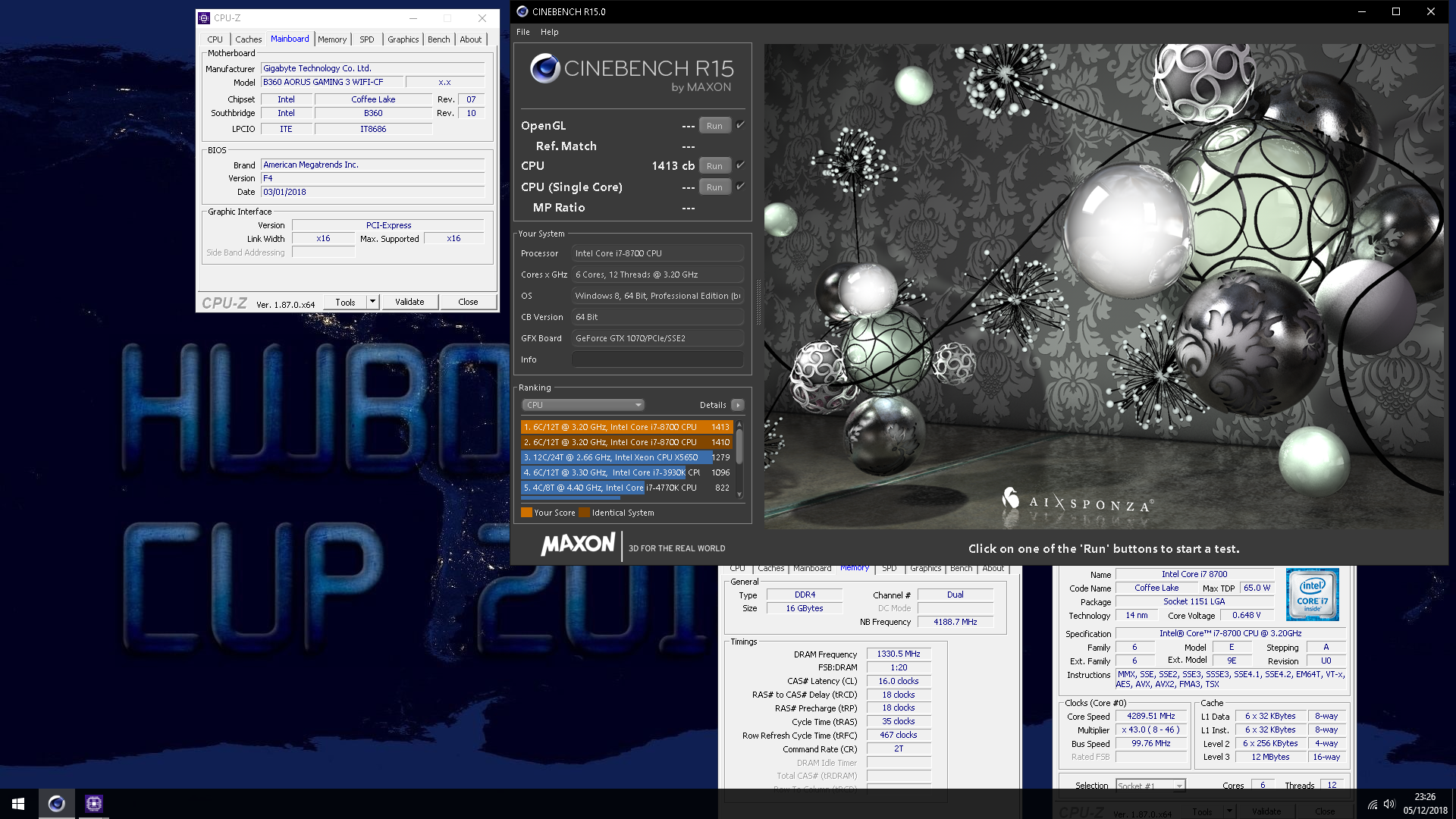 Cinebench R15 Vs R20