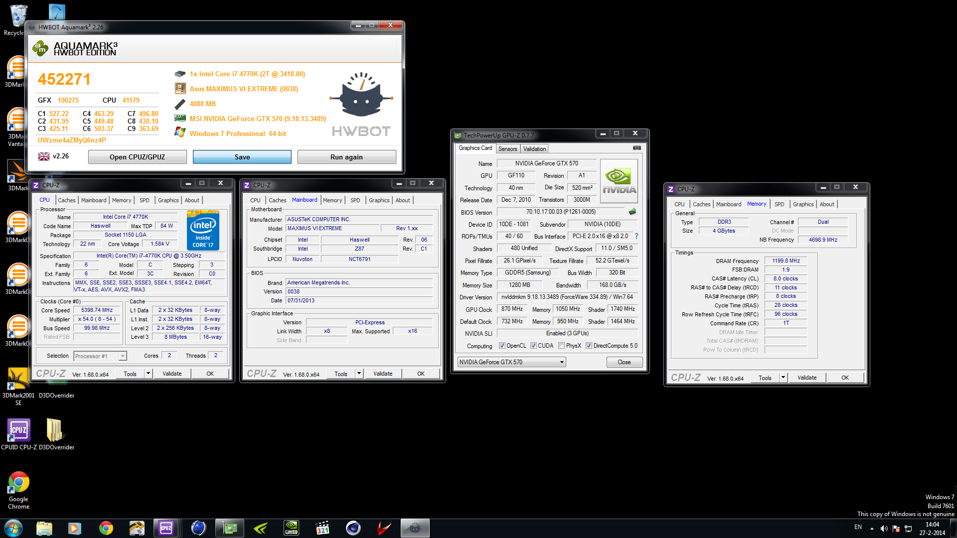 faust2016`s Aquamark score: 452271 marks with a GeForce GTX 570