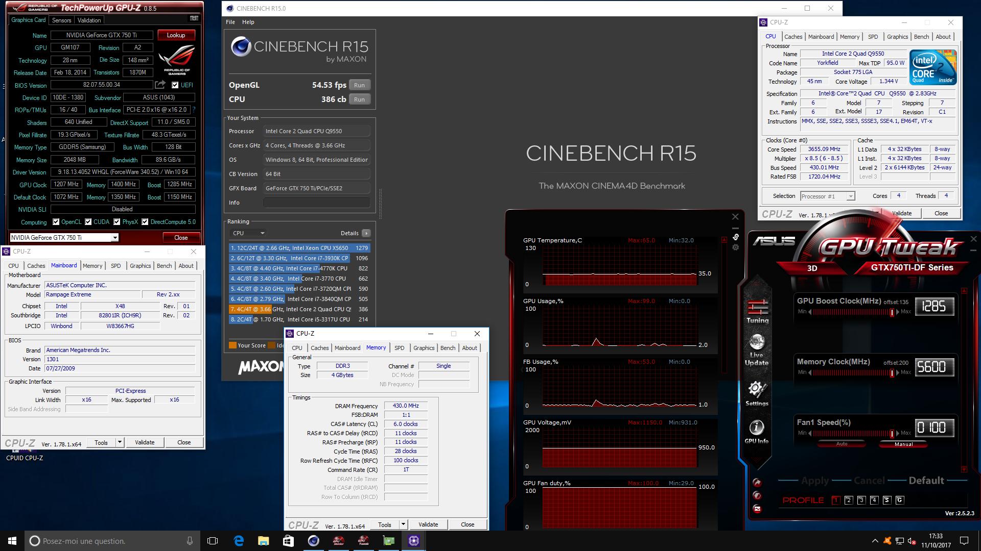 Yaya65ps Cinebench R15 Score 386 Cb With A Core 2 Quad Q9550 Q 9550 Media Gallery