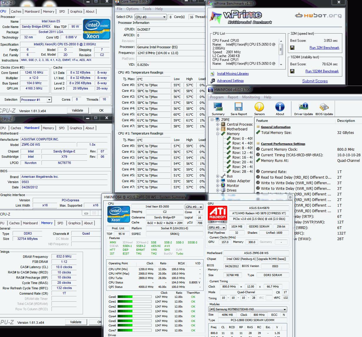 eva2000`s wPrime - 32m score: 3sec 853ms with a Xeon E5 2650