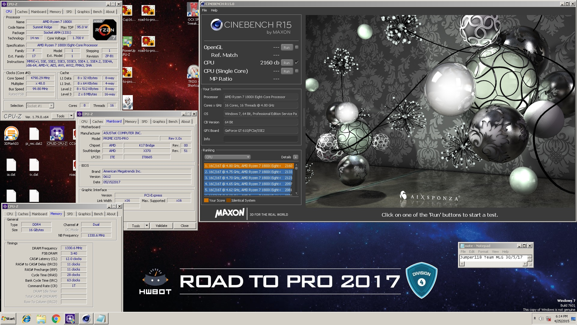 Post your cinebench r15r1152003 scores over 1000 submissions imageid1850328eg sciox Choice Image