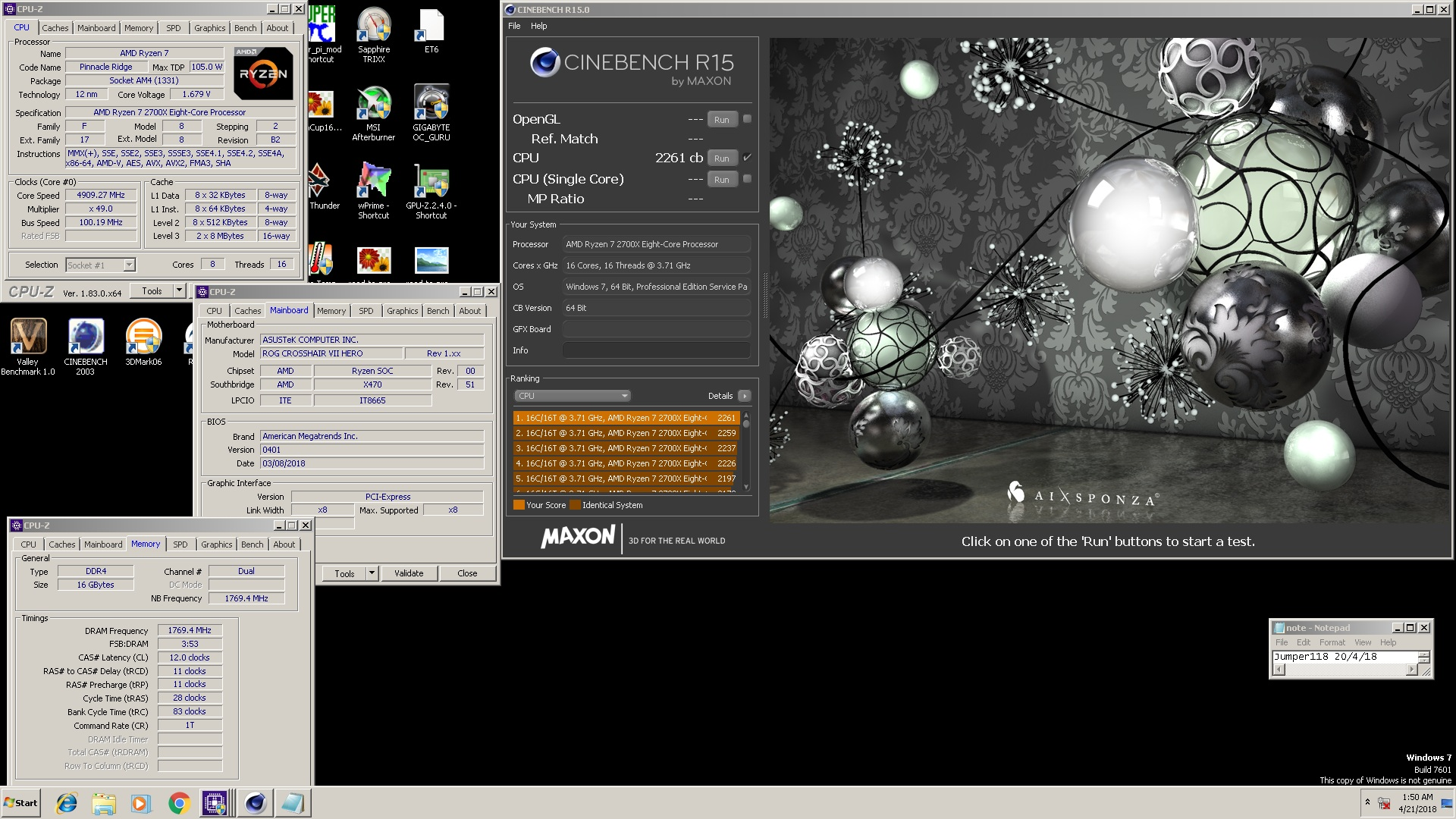Cinebench pc