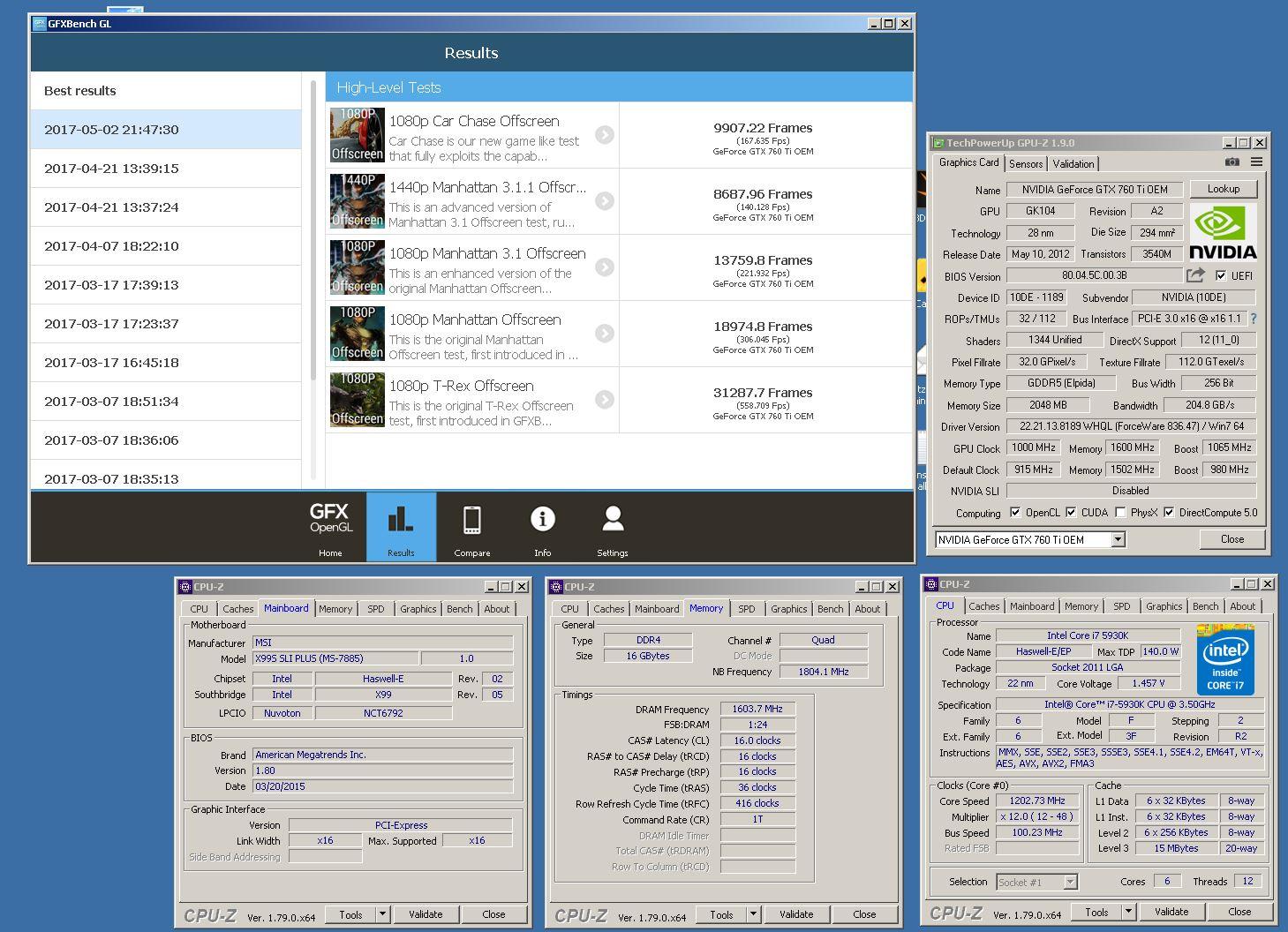 Intelguys Gfxbench 1080p T Rex Offscreen Score 312877 Frames Gtx 760 Ti Media Gallery