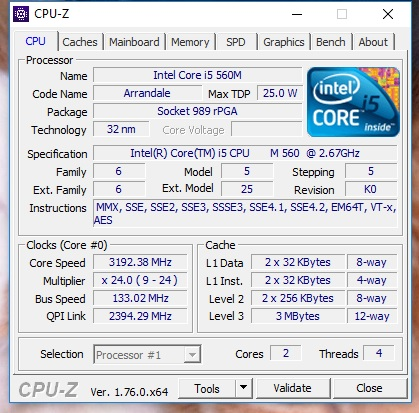 Kimandsallys cpu frequency score 3192 mhz with a core i5 560m screenshots verfication image cpu frequency screenshot screenshot publicscrutiny Image collections