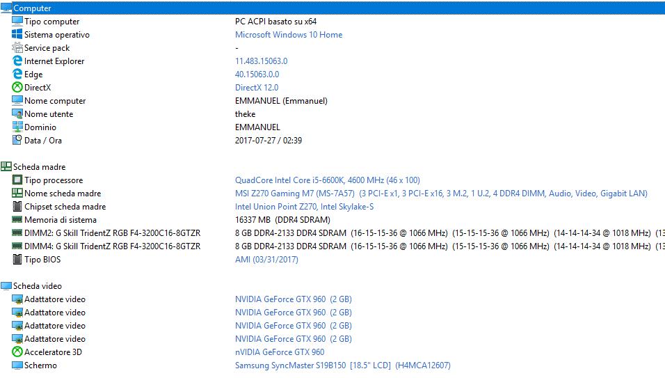 TheKerevas`s Cinebench - R15 score: 755 cb with a Core i5 6600K